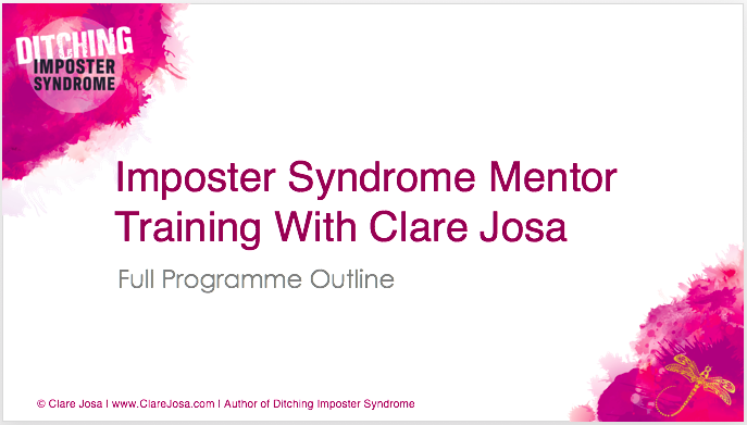 Imposter Syndrome Mentor Training Course Prospectus